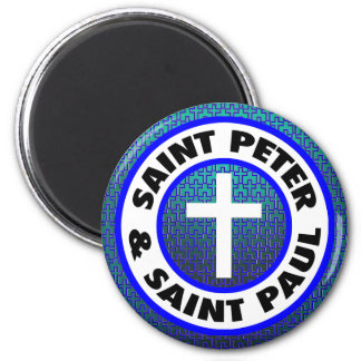 Saint Peter & Saint Paul 6 Cm Round Magnet