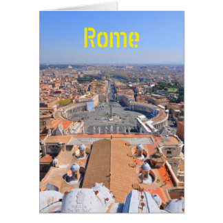 Saint Peter square in Vatican, Rome, Italy Card
