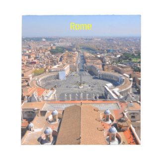 Saint Peter square in Vatican, Rome, Italy Notepad