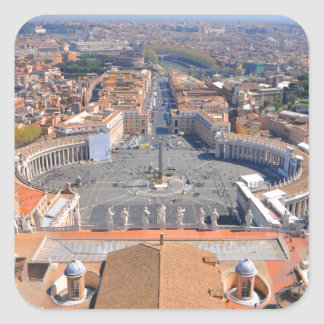 Saint Peter square in Vatican, Rome, Italy Square Sticker