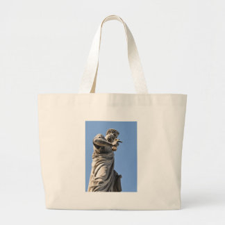 Saint Peter statue in Rome, Italy Large Tote Bag