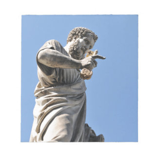Saint Peter statue in Rome, Italy Notepad