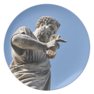 Saint Peter statue in Rome, Italy Plate