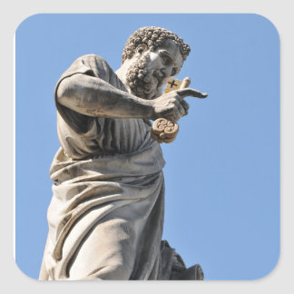 Saint Peter statue in Rome, Italy Square Sticker