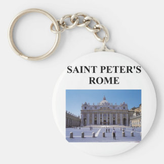 saint peter's basilica basic round button key ring