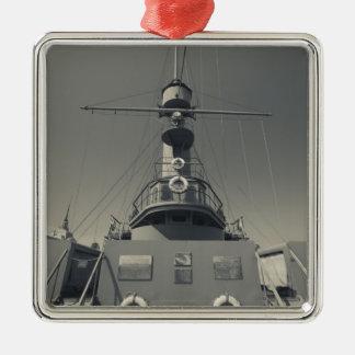 Saint Petersburg, Cruiser Aurora 3 Silver-Colored Square Decoration