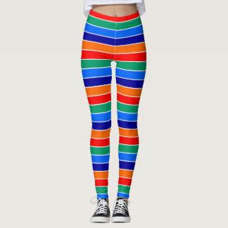saint petersburg flag stripes lines pattern usa ci leggings