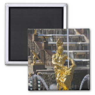 Saint Petersburg, Grand Cascade fountains 3 Square Magnet