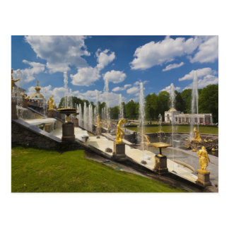 Saint Petersburg, Grand Cascade fountains 6 Postcard