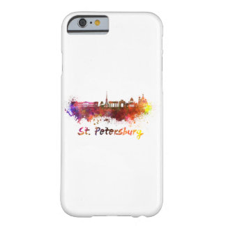 Saint Petersburg skyline in watercolor Barely There iPhone 6 Case