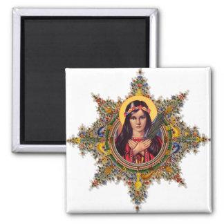 Saint Philomena, patron of babies & children Square Magnet