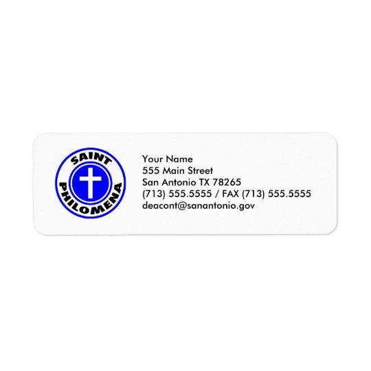 Saint Philomena Return Address Label