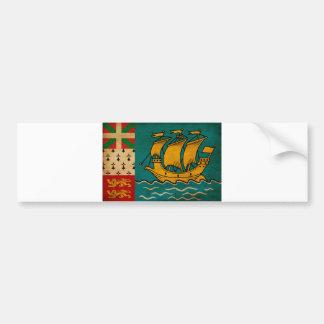 Saint Pierre and Miquelon Flag Bumper Sticker