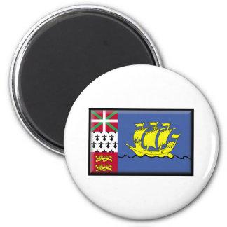 Saint Pierre and Miquelon Flag Refrigerator Magnet