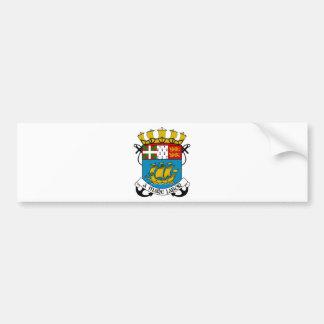Saint Pierre and Miquelon (France) Coat of Arms Bumper Sticker