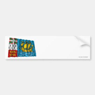 Saint-Pierre and Miquelon Waving Flag Bumper Stickers
