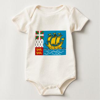 Saint Pierre Flag Baby Bodysuit