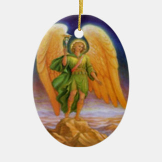 Saint Raphael and Prayer Ceramic Ornament