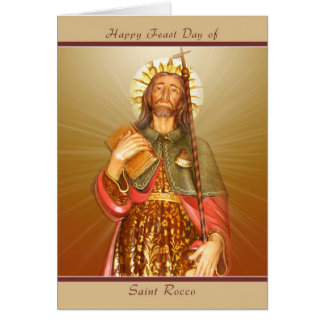 Saint Rocco Feast Day - Blank Note Card