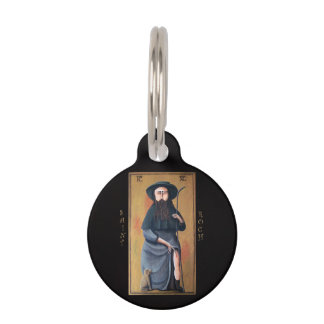 Saint Roch Patron Saint of Dogs Round Pet Tag