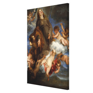 Saint Rosalie Interceding for the Plague-stricken Canvas Print