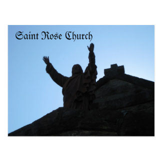 Saint Rose Church Santa Rosa, Ca. Postcard