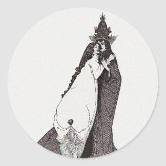 Saint Rose of Lima Ascending Classic Round Sticker