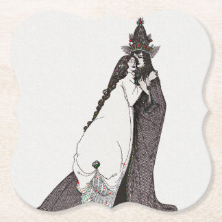 Saint Rose of Lima Ascends to Heaven Paper Coaster