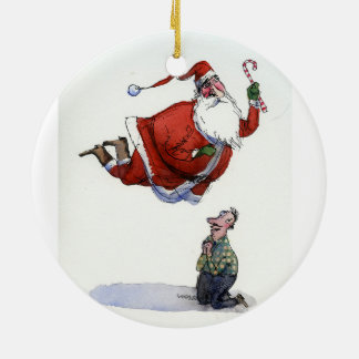 Saint Santa ornament by Richard Thompson