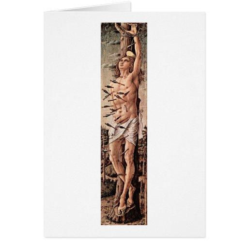 Saint Sebastian. By Carlo Crivelli Greeting Cards