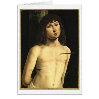 Saint Sebastian, c.1490s (tempera on panel) Card