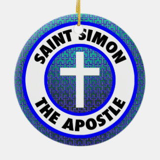 Saint Simon the Apostle Ceramic Ornament
