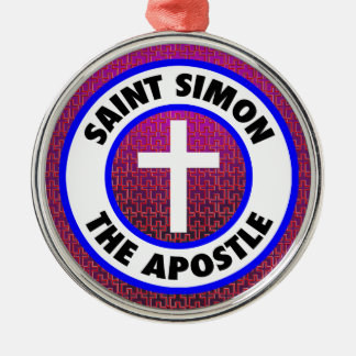 Saint Simon the Apostle Metal Ornament