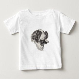 Saint St. Bernard Dog Profile Portrait Drawing Baby T-Shirt