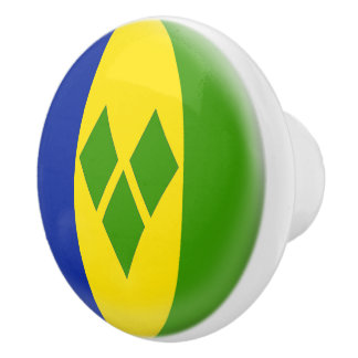 Saint St. Vincent and the Grenadines Flag Ceramic Knob