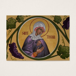 Saint Thekla Mini-Prayer Card