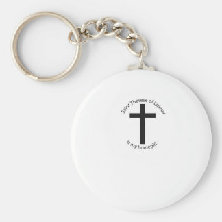 Saint Therese Lisieux is my homegirl Basic Round Button Key Ring