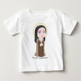 Saint Therese of Lisieux Cute Catholic Baby T-Shirt