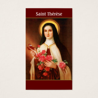 Saint Thérèse of Lisieux Prayer Cards