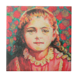 Saint Therese Small Ceramic Tile