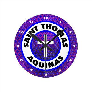 Saint Thomas Aquinas Round Clock