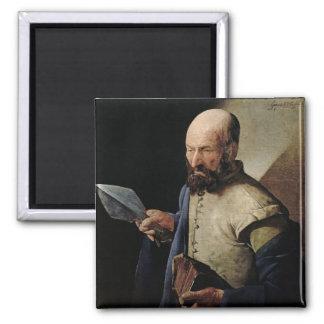 Saint Thomas (oil on canvas) Square Magnet