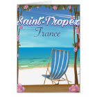 Saint-Tropez France Travel poster Card