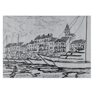 Saint-Tropez Harbor | French Riviera, France Cutting Board