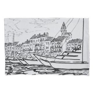 Saint-Tropez Harbor | French Riviera, France Pillowcase