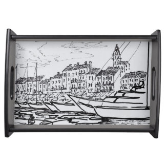 Saint-Tropez Harbor   French Riviera, France Serving Tray