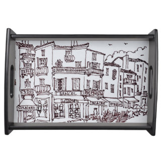 Saint-Tropez Shops   French Riviera, France Serving Tray
