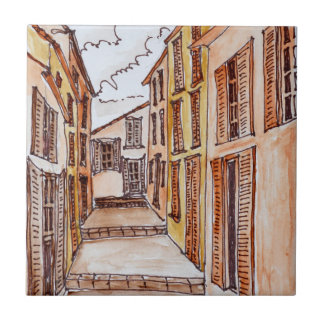 Saint-Tropez Streets | French Riviera, France Tile