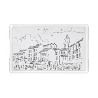 Saint-Tropez Waterfront | French Riviera, France Acrylic Tray