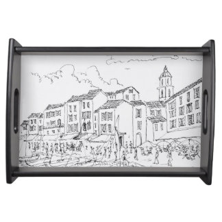 Saint-Tropez Waterfront   French Riviera, France Serving Tray